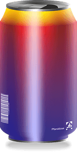 Multicolored drink can clipart