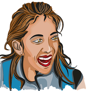 Laughing girl clipart