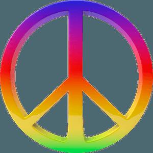 Multicolored peace symbol clipart