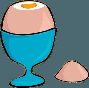 Soft boiled egg clipart