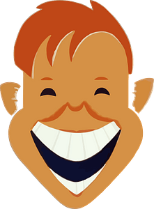 Boy laughing face clipart