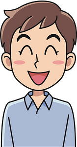 Laughing young man clipart