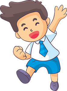 Laughing schoolboy clipart
