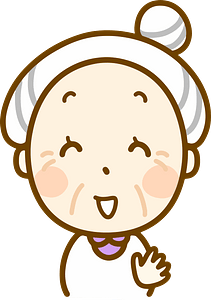 Laughing old woman clipart