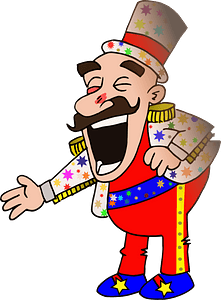 Laughing Circus chef clipart