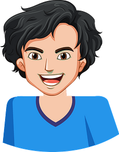 Laughing boy clipart