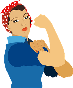 Rosie the Riveter - We can do it clipart