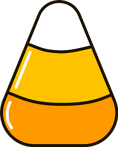 Candy corn clipart