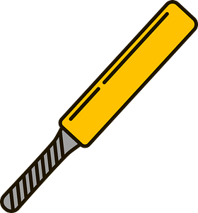 Cricket bat clipart