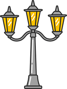 Street lamp clipart