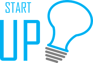 Startup lettering and symbol clipart
