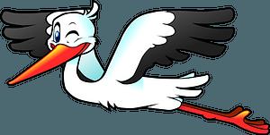Flying stork clipart