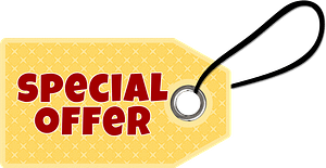 Special offer tag clipart