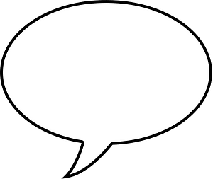 Speech balloon clipart