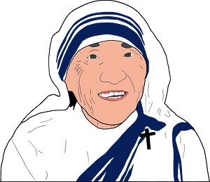 Mother Teresa clipart