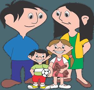 Familia feliz clipart