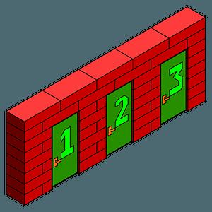 Brick Wall Doors clipart