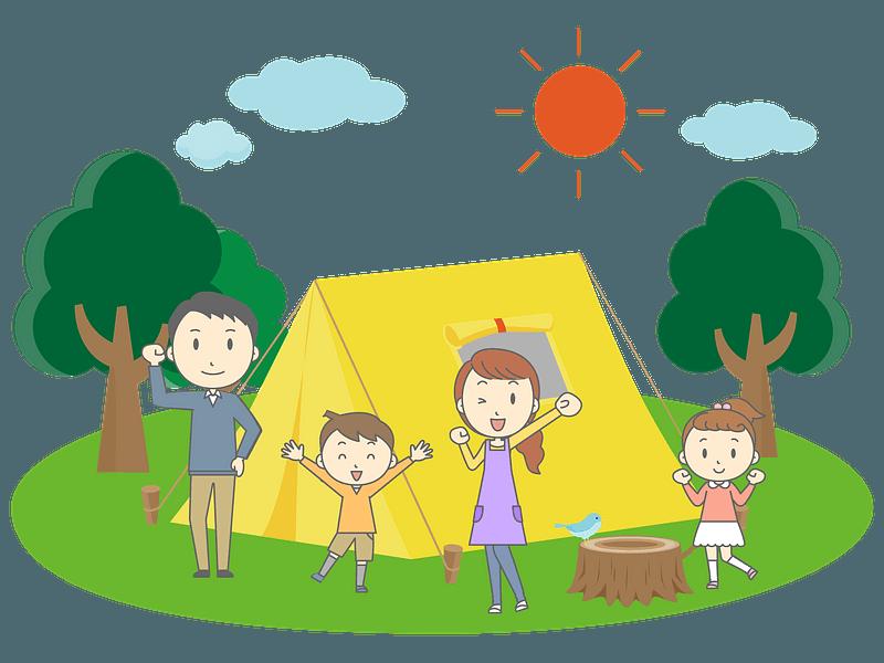 Camping familiar clipart