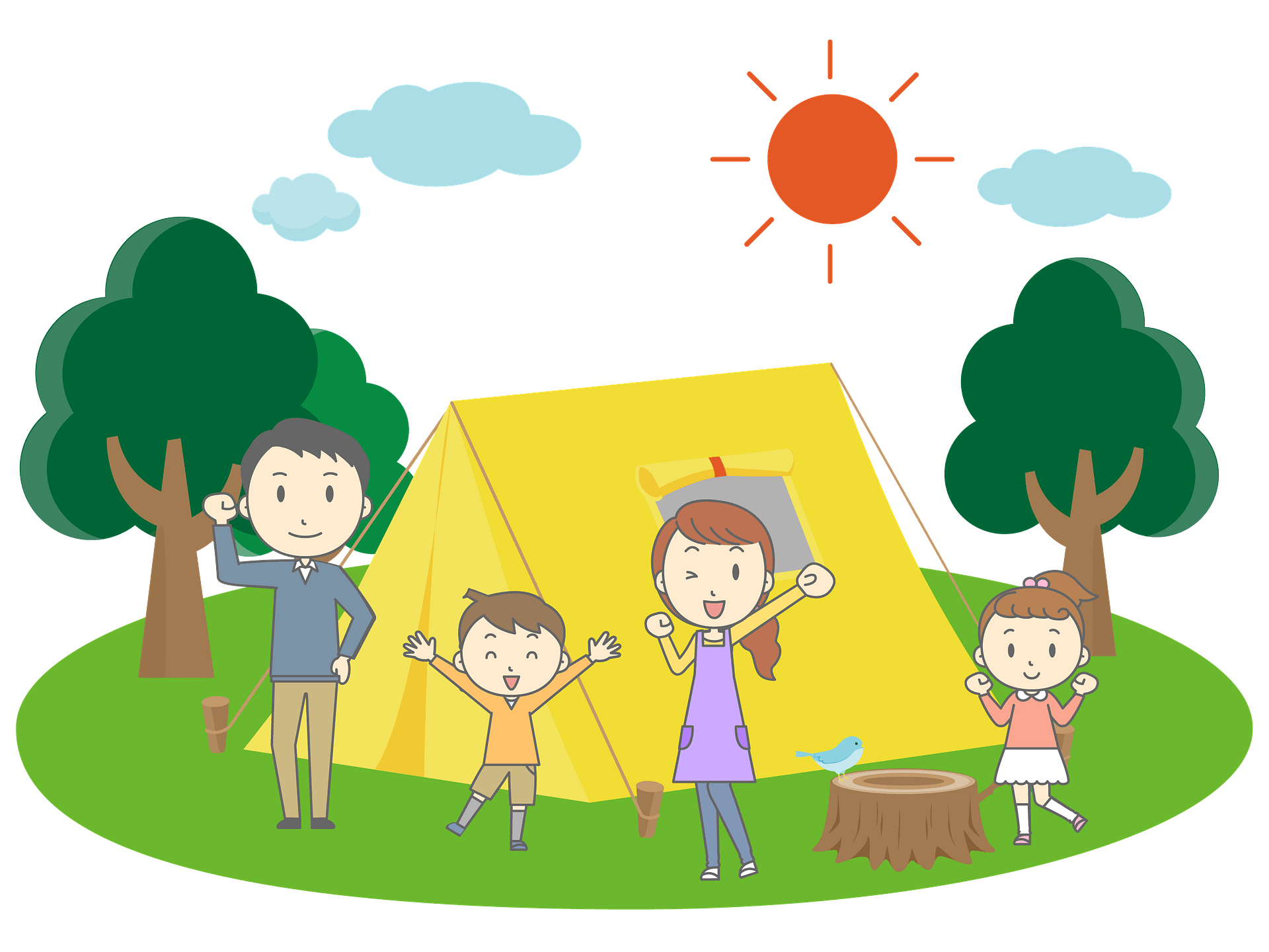 Family Camping Clipart Free Download Transparent Png Creazilla