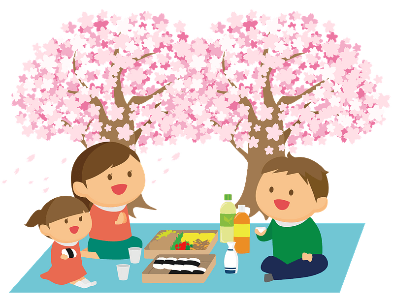 family together with basket to picnic recreation - Download Free Vectors,  Clipart Graphics & Vector Art