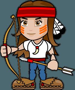 Native American Archer Girl clipart