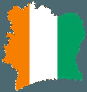 Ivory Coast Flag Map clipart