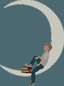 Boy on the Moon clipart