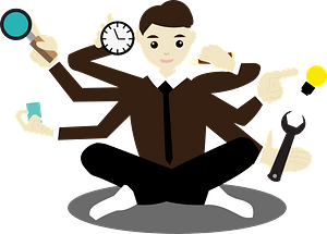 Busy Man clipart