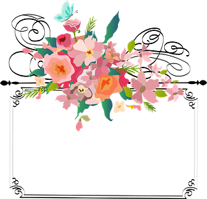 Frame with Flowers Vintage clipart