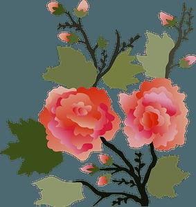 Vintage Japanese Flower clipart