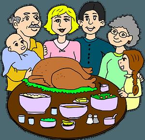 Family dinner clipart