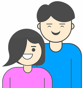 Happy young family clipart
