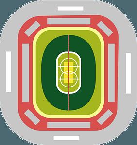 Cricket stadium clipart