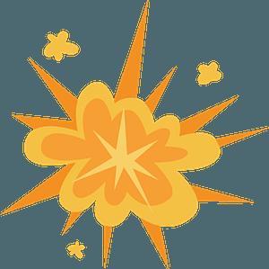 Bomb explosion clipart