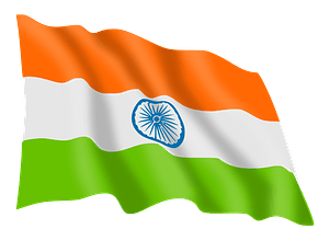 India Flag clipart