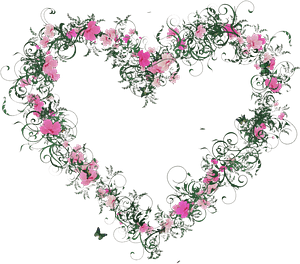 Floral heart clipart