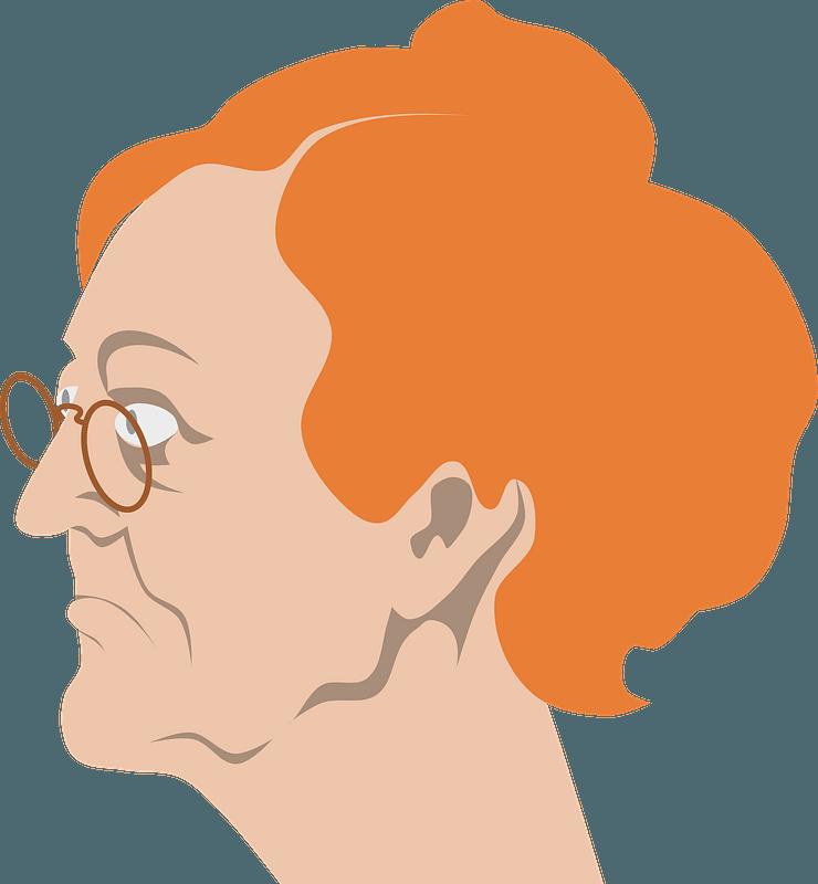 Rothaarige Oma clipart. Kostenloser Download. | Creazilla
