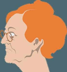 Redhead grandma clipart