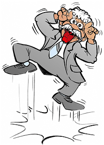Funny old man clipart