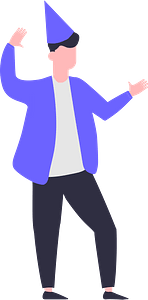 Party man clipart
