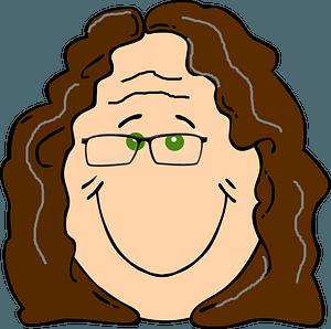 Elderly woman face clipart