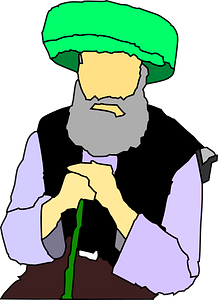 Old man in turban clipart