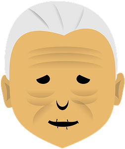 Old woman face clipart