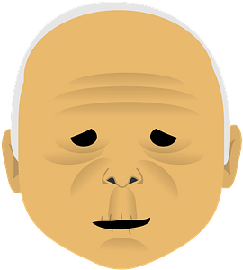 Old man face clipart