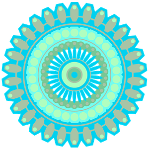 Blue mandala clipart