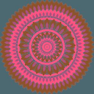 Pink mandala clipart