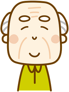 Smiling old man clipart