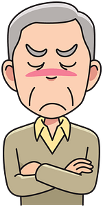 Angry grandpa clipart