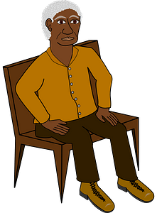 Sitting man clipart