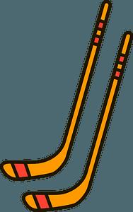 Ice Hockey sticks clipart
